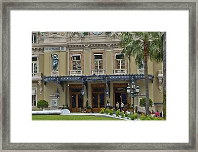 Framed Print featuring the photograph Monte Carlo Casino by Allen Sheffield