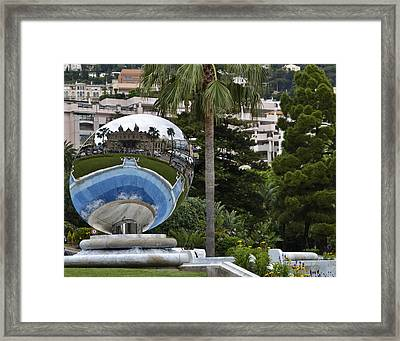 Framed Print featuring the photograph Monte Carlo Casino In Reflection by Allen Sheffield