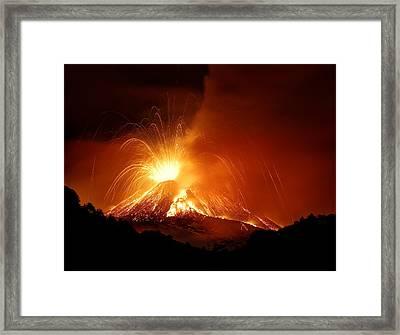 Monte Etna Framed Print