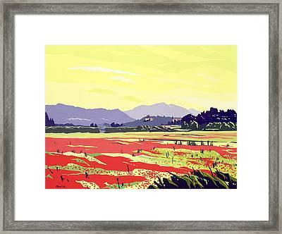 Monte San Quirico, Lucca, 2003 Gouache On Paper Framed Print