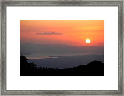 Monte Verde Sunset Framed Print