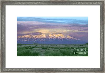 Monte Vista Sunrise 1 Framed Print