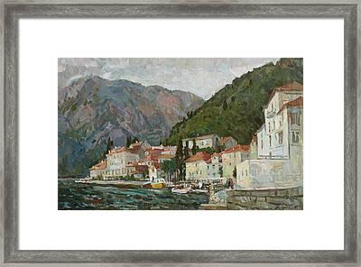Montenegrin Venice Framed Print