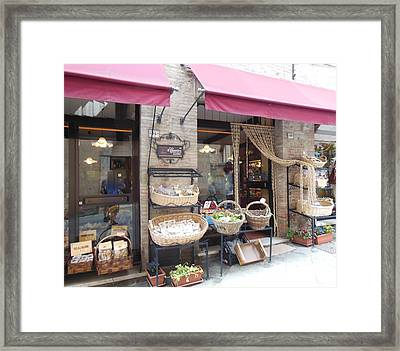 Montepulciano Shop Framed Print by Marilyn Dunlap