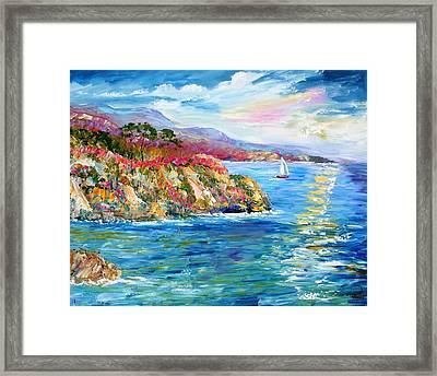Monterey California Spring Framed Print by Karen Tarlton