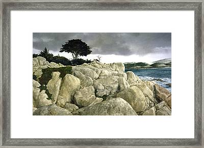 Monterey Coast Framed Print by Tom Wooldridge