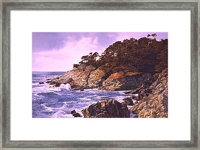 Framed Print featuring the painting Monterey Glory by Tom Wooldridge