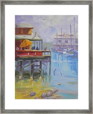 Monterey Wharf Framed Print