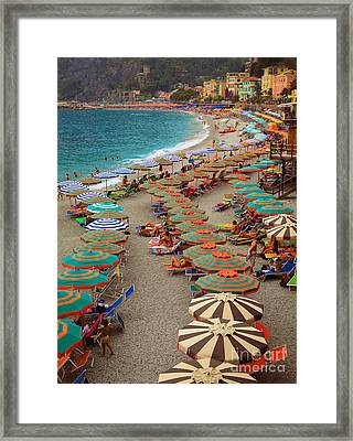 Monterosso Beach Framed Print by Inge Johnsson