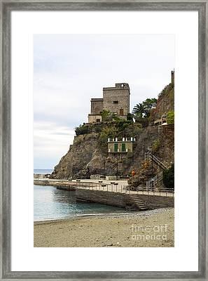 Monterosso Harbor Pier Framed Print