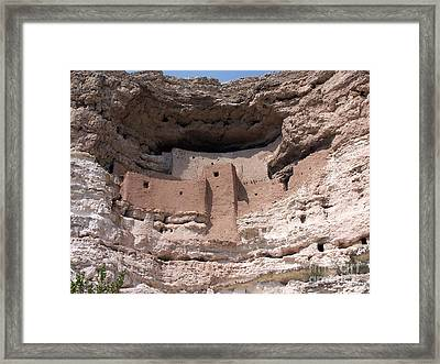 Framed Print featuring the photograph Montezuma Castle 1 by Tom Doud