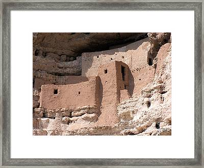 Framed Print featuring the photograph Montezuma Castle 2 by Tom Doud