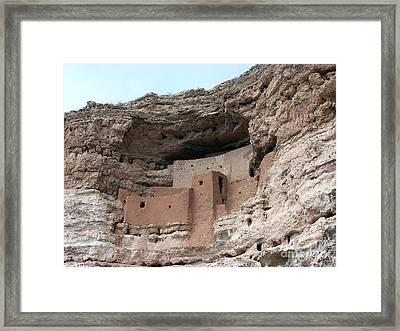 Framed Print featuring the photograph Montezuma Castle 3 by Tom Doud