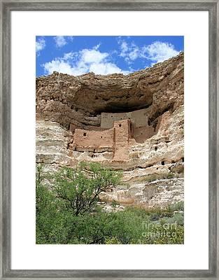 Montezuma Castle Framed Print by Carol Groenen