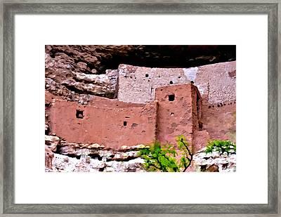 Montezuma Castle  Framed Print by Bob and Nadine Johnston