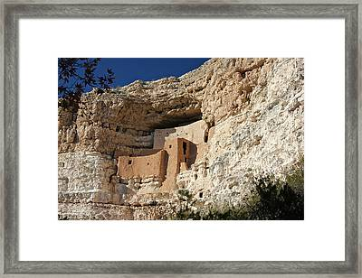Framed Print featuring the photograph Montezuma Castle by Penny Meyers