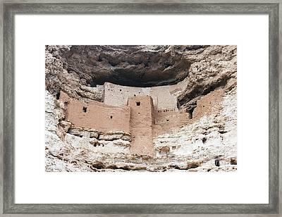 Montezuma Castle Pueblo  Framed Print by Frank Bach