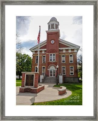 Montezuma Iowa Court House Framed Print by Gregory Dyer
