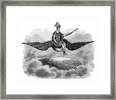Montezuma, Pueblo Indian God King Framed Print by British Library