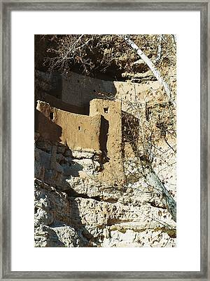 Framed Print featuring the photograph Montezuma's Castle by Kerri Mortenson