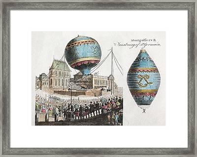 Montgolfier Balloon Flight Framed Print