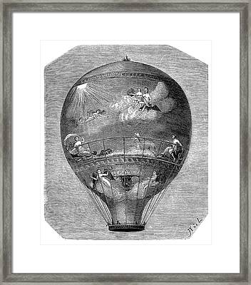 Montgolfier 'le Flesselles' Balloon Framed Print by Science Photo Library