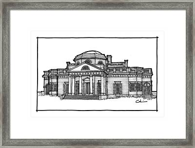 Framed Print featuring the drawing Monticello by Calvin Durham