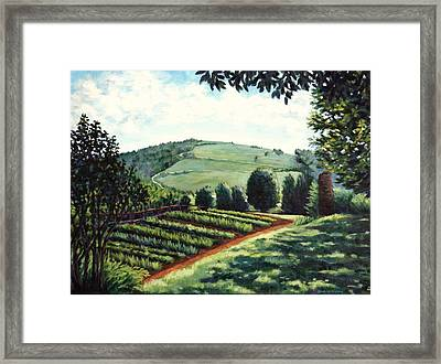 Monticello Vegetable Garden Framed Print by Penny Birch-Williams
