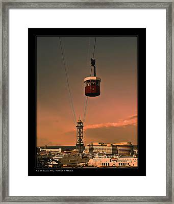 Framed Print featuring the photograph Montjuic Cable Car by Pedro L Gili