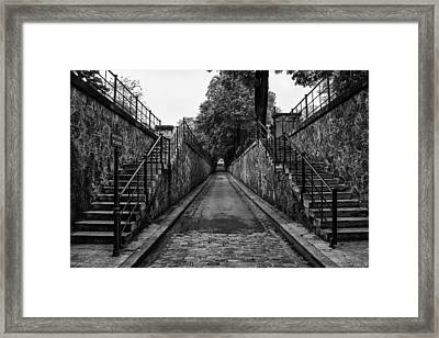 Montmartre Cemetery Framed Print by Georgia Fowler