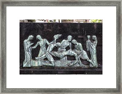 Montmartre Cemetery Relief  Framed Print by Georgia Fowler