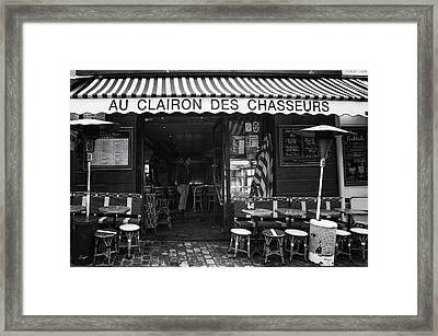 Montmartre Cafe Framed Print by Georgia Fowler