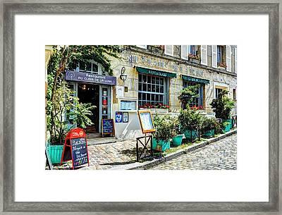 Montmartre In Paris 7 Framed Print by Mel Steinhauer