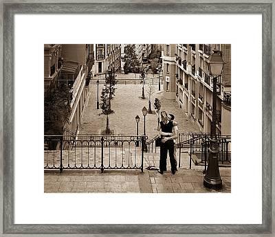 Montmartre Moment Framed Print by Nikolyn McDonald