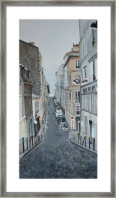 Framed Print featuring the painting Montmartre Paris France by Betty-Anne McDonald