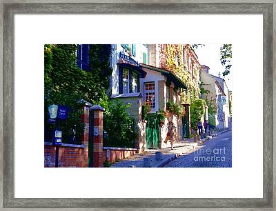 Framed Print featuring the photograph Walk In Montmartre  by Jacqueline M Lewis