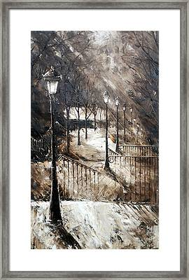Montmartre Stairs Framed Print