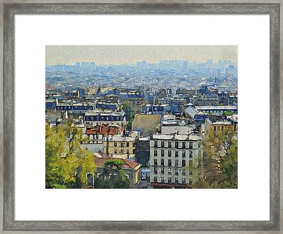 Montmartre View Framed Print by Yury Malkov