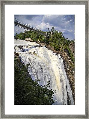Montmorency Falls Park Quebec City Canada Framed Print by Edward Fielding