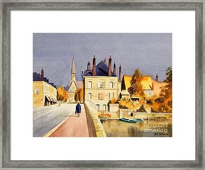 Montoire Sur-le-loir Framed Print by Bill Holkham