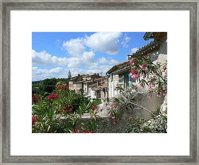 French Hilltop Terraces Framed Print