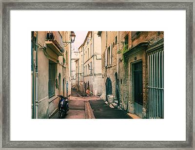 Montpellier - France - Street In The Afternoon Framed Print