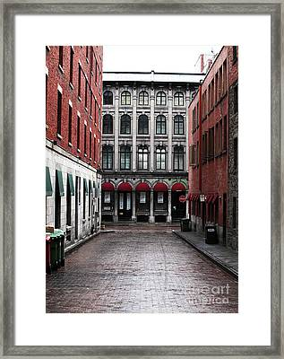 Montreal Alley Framed Print by John Rizzuto