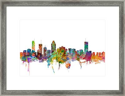 Montreal Canada Skyline Framed Print