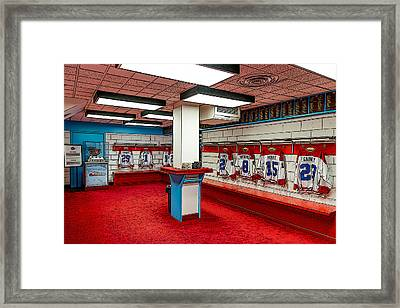 Montreal Canadians Hall Of Fame Locker Room Framed Print