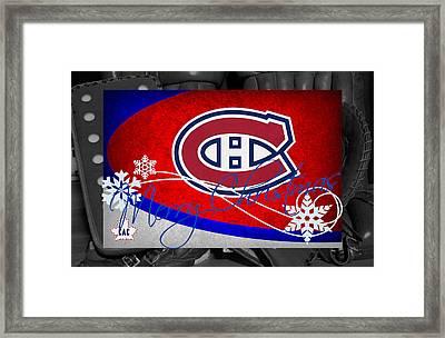 Montreal Canadiens Christmas Framed Print by Joe Hamilton