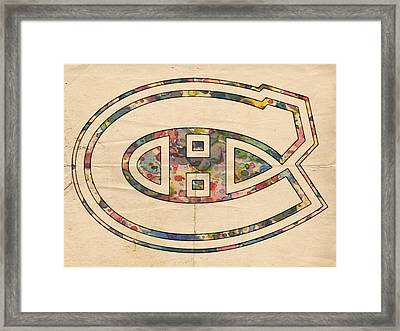 Montreal Canadiens Hockey Poster Framed Print by Florian Rodarte