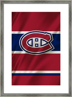 Montreal Canadiens Uniform Framed Print by Joe Hamilton