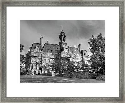 Montreal City Hall  Montreal, Quebec Framed Print
