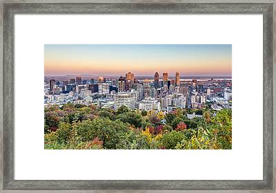 Montreal City In Autumn Framed Print